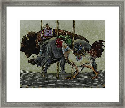 Carousel Kids 1 Framed Print by Rich Travis