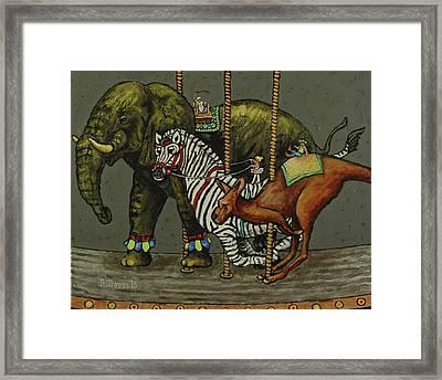 Carousel Kids 2 Framed Print by Rich Travis