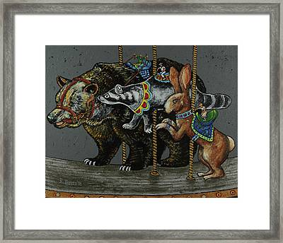 Carousel Kids 4 Framed Print by Rich Travis