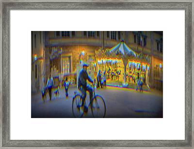 Carousel Lucca Italy Framed Print