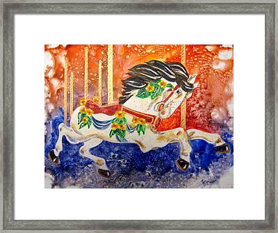 Carousel Framed Print by Marsha Elliott