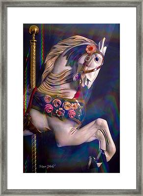 Framed Print featuring the photograph Carousel Memories by Marie Hicks