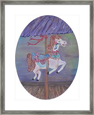 Carousel Framed Print by Mikki Alhart
