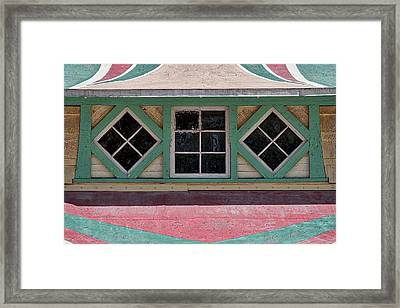 Framed Print featuring the photograph Carousel Pavillion Windows by Stuart Litoff