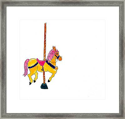 Carousel Pony Framed Print by Leah Wiedemer
