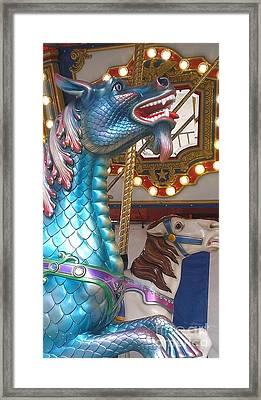 Carousel Seadragon Framed Print by LKB Art and Photography