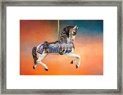 Carousel Sunset Framed Print