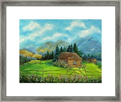Carpathian Mountains Framed Print by Iuliia Novikova