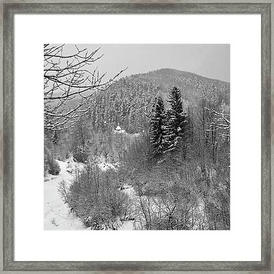Carpathian Winter. Sheshory, 2010. Framed Print