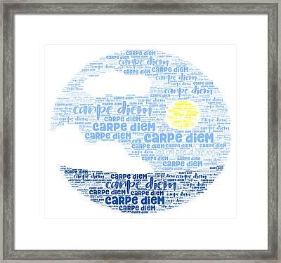 Framed Print featuring the digital art Carpe Aestatem by Bee-Bee Deigner