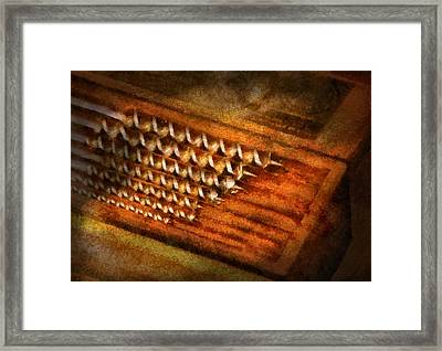 Carpenter - Auger Bits  Framed Print by Mike Savad