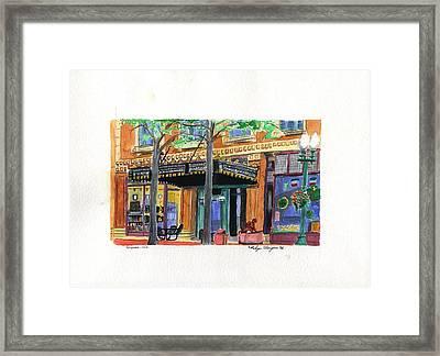 Carpenter Hotel-rain Framed Print by Rodger Ellingson