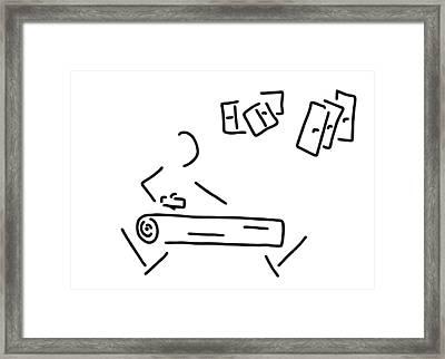 Carpenter Timber-frame Construction Framed Print by Lineamentum