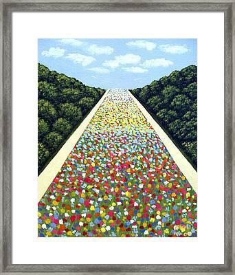 Carpet Of Flowers Framed Print by Frederic Kohli