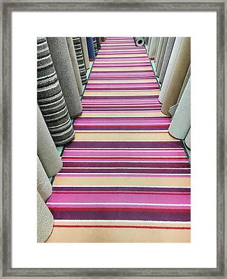 Carpet Store Framed Print by Tom Gowanlock