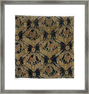 Textile Tapestry Carpet With The Arms Of Rogier De Beaufort Framed Print