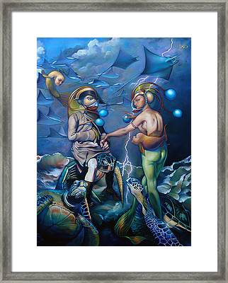 Carpoleon And Josefin Framed Print