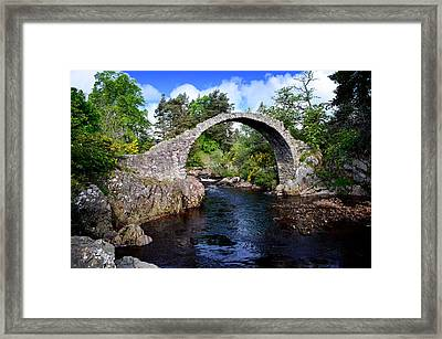 Carr Bridge Scotland Framed Print by Don and Bonnie Fink