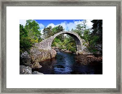 Carr Bridge Scotland Framed Print