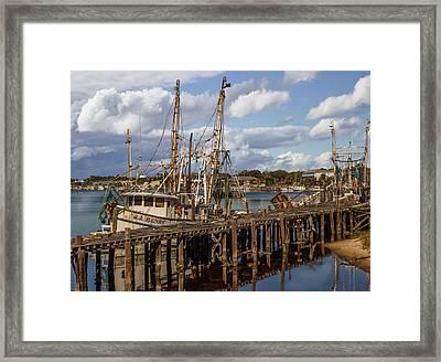 Carrabelle Harbor Framed Print