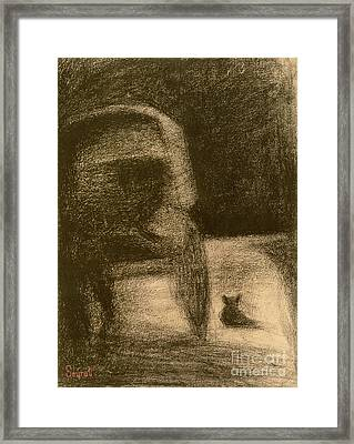 Carriage And Dog Framed Print by Georges Pierre Seurat