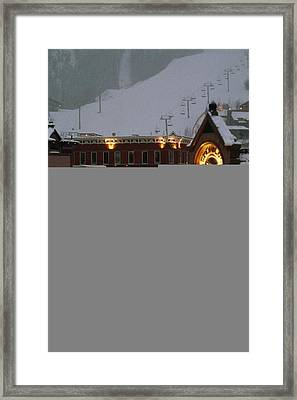 Carriage And Slded On Snowy Steets Framed Print