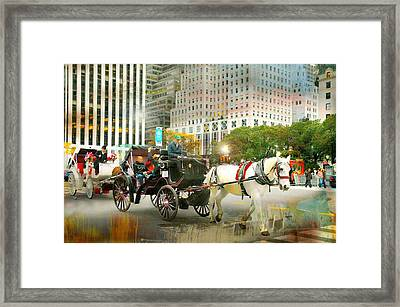 Carriage On Fifth Framed Print by Diana Angstadt