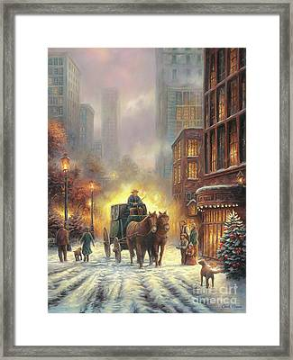 Carriage Ride Framed Print by Chuck Pinson