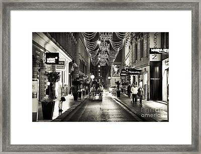 Carriage Ride Down The Street Framed Print