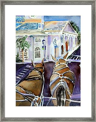 Carriage Ride In Charleston Framed Print by Mindy Newman
