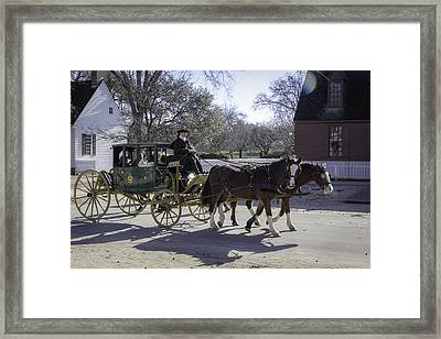 Carriage Ride In The Winter Framed Print by Teresa Mucha