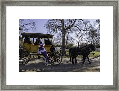 Carriage Ride On A Cold Winter Day Framed Print by Teresa Mucha