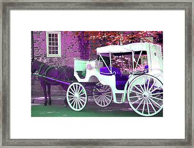 Framed Print featuring the photograph Carriage Ride by Susan Carella