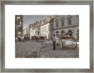 Carriages Back To Stephanplatz Framed Print