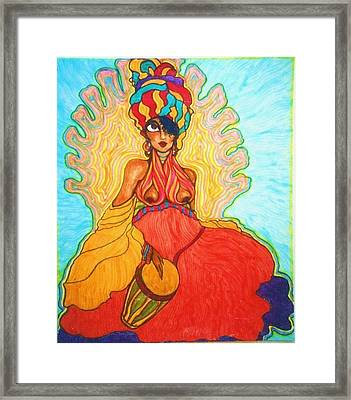 Carribean Princess Framed Print by Rae Chichilnitsky