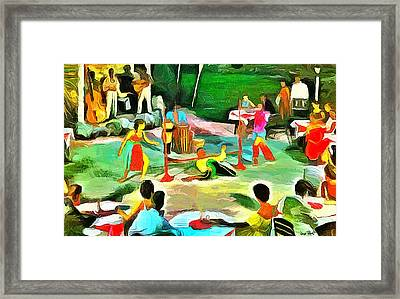 Carribean Scenes - Calypso And Limbo Framed Print