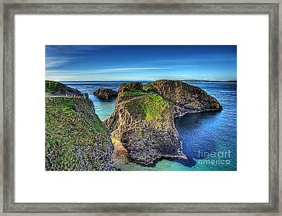 Carrick-a-rede Rope Bridge Framed Print by Kim Shatwell-Irishphotographer