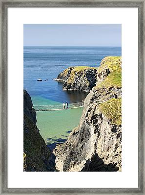 Carrick-a-rede Rope Bridge Northern Ireland Framed Print by Pierre Leclerc Photography