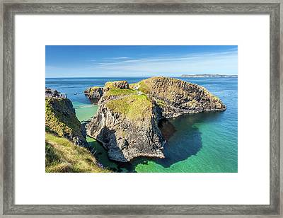 Carrick-a-rede Rope Bridge Framed Print by Pierre Leclerc Photography