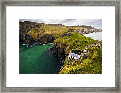 Carrick-a-rede Framed Print by Ryan Moore