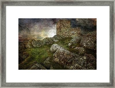Carrickabraghy Castle Framed Print by Pat Eisenberger
