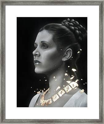 Carrie Fisher - Traditional Art Tribute Framed Print