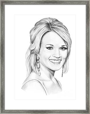 Carrie Underwood Framed Print by Murphy Elliott