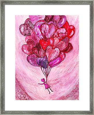 Carried Away Framed Print by Carol Cavalaris