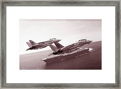 Carrier Pass Framed Print by Dorian Dogaru