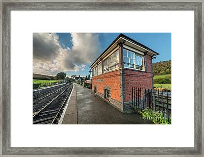 Framed Print featuring the photograph Carrog Signal Box by Adrian Evans