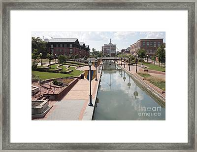 Carroll Creek Park In Frederick Maryland Framed Print by William Kuta