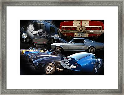 Carroll Shelby Tribute Framed Print by Bill Dutting