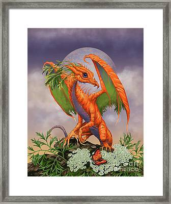 Framed Print featuring the digital art Carrot Dragon by Stanley Morrison