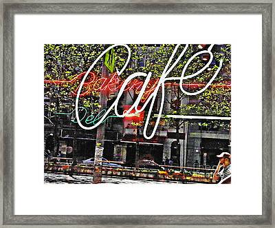Carrot Top On Broadway Framed Print by Sarah Loft